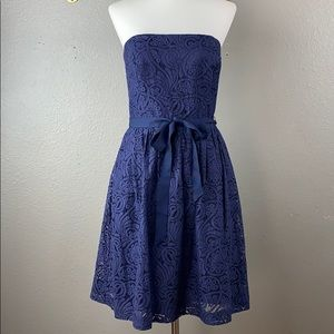 Trina Turk strapless lace fit and flare dress
